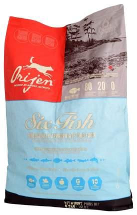 Сухой корм для кошек Orijen Six Fish, 6 видов рыбы, 6,8кг