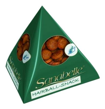 Лакомство для кошек Sanabelle Hairball Snack фигурки для вывода шерсти, 20 г
