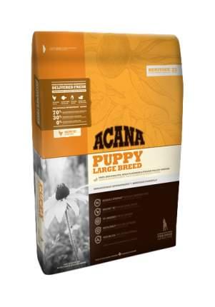 Сухой корм для щенков ACANA Heritage Puppy Large Breed, для крупных пород, цыпленок, 17кг