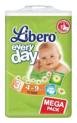 Подгузники Libero Everyday Midi 3 (4-9 кг), 70 шт.