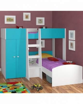Двухъярусная кровать Golden Kids 4 белая/голубая