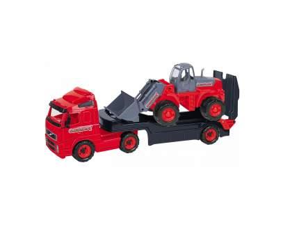 Набор машин Полесье Автомобиль-трейлер и Трактор-погрузчик