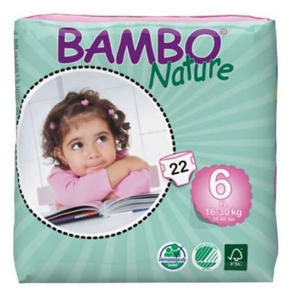 Подгузники Bambo Nature Xl (16-30 кг), 22 шт.