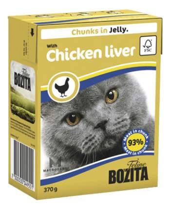 Консервы для кошек BOZITA Feline Chunks In Jelly, с куриной печенью в желе, 370г