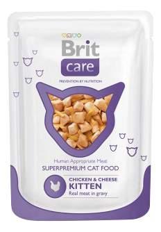 Влажный корм для котят Brit Care, курица, сыр, 80г