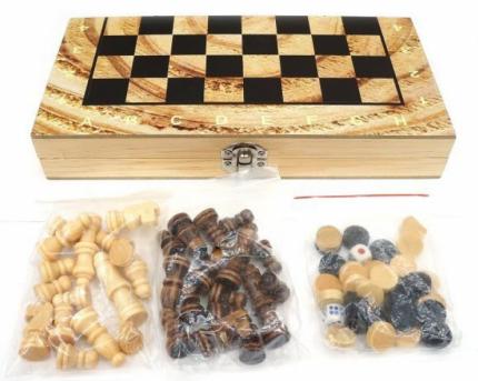Семейная настольная игра Shantou Gepai Шахматы, шашки и нарды W4018-H