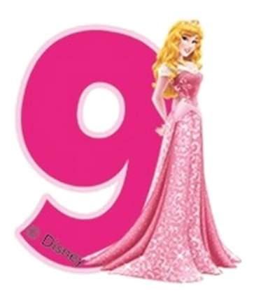 Свеча-цифра PROCOS Принцессы 9 лет