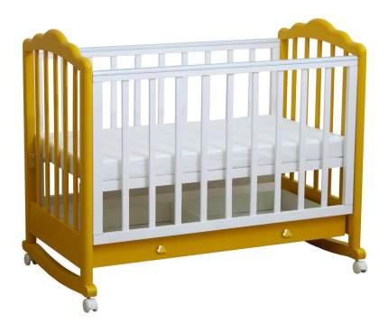 Кровать Тополь Фея 621 белый-солнечный
