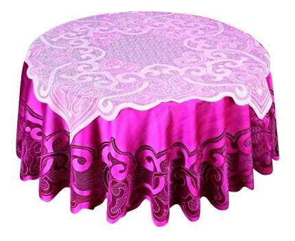 Скатерть Haft Ванесса круглая 200 см розовое вино