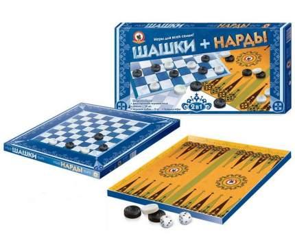 Семейная настольная игра Русский стиль Шашки-нарды