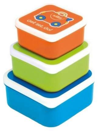 Контейнеры для еды Trunki 0299-GB01 Голубой, Оранжевый, Зеленый 3 шт
