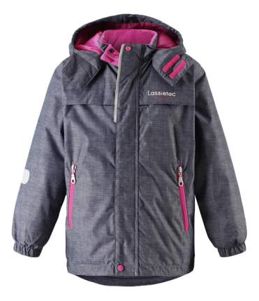 Куртка Lassie зимняя Lassietec серо-розовая р.128