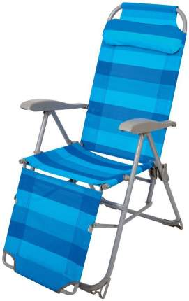 Кресло-шезлонг НИКА 3 с подножкой К3 Синий