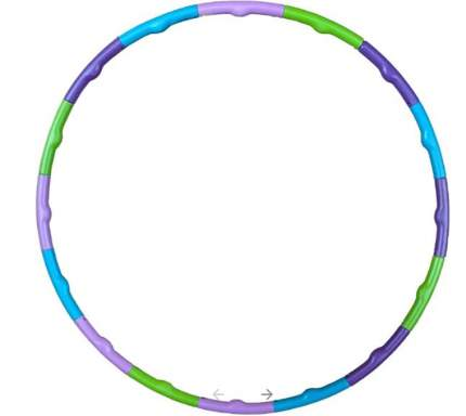 Гимнастический обруч Hawk HKHL 109 80 см зеленый/голубой/фиолетовый