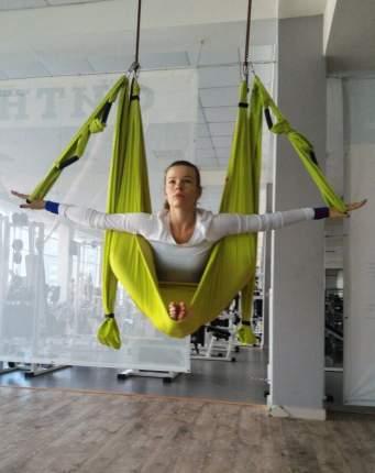 Гамак для йоги RamaYoga Universal, зеленый