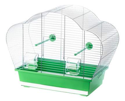 Клетка для птиц INTER-ZOO 56,5x28x44,5 серебристый, зеленый