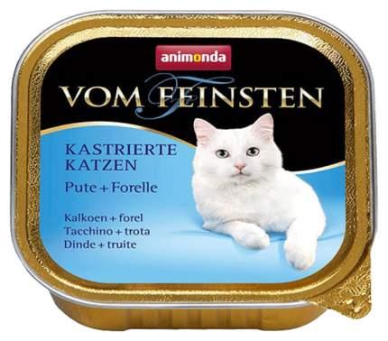 Консервы для кошек Animonda Vom Feinsten Kastrierte Katzen, индейка и форель, 32шт по 100г