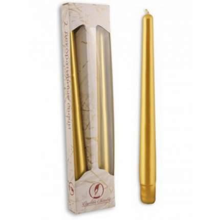 Античные свечи 25 см, 2 шт, золото 3905