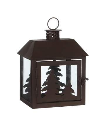 Подсвечник «Заснеженные елочки», 15*11*18 см, коричневый 122096