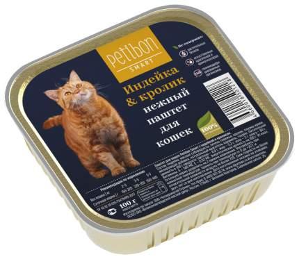 Влажный корм для кошек Petibon Smart, индейка и кролик, 100г