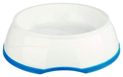 Одинарная миска для кошек и собак TRIXIE, пластик, резина, белый, 1 л