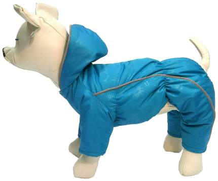 Комбинезон для собак OSSO Fashion размер L унисекс, голубой, длина спины 32 см