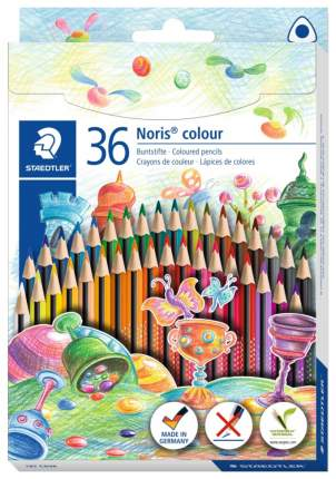 Карандаши цветные Staedtler Wopex Noris Colour 187 36 цветов