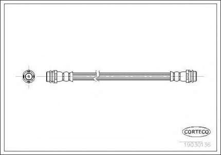 Шланг тормозной Corteco 19030136