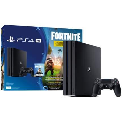 Игровая приставка Sony PlayStation 4 Pro 1TB Черный + Fortnite