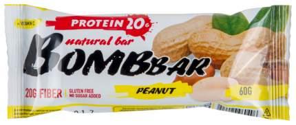 Протеиновый батончик Bombbar Protein Bar 60 г арахис