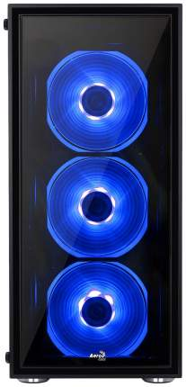 Компьютерный корпус AeroCool Quartz Blue без БП black/transparent