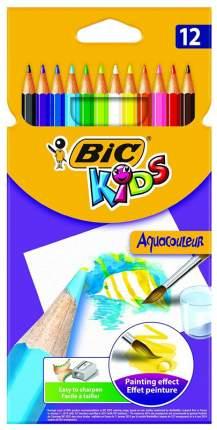 Карандаши цветные акварельные Bic Aquacouleur. 12 цветов
