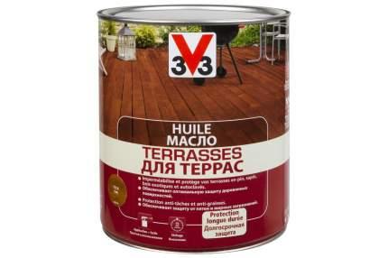 Масло для террас 3V3 2.5л. бесцветный матовый