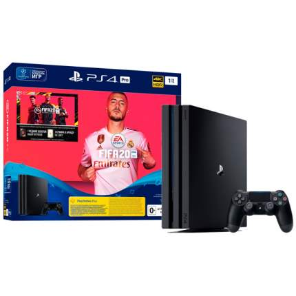 Игровая приставка Sony Playstation 4 Pro 1TB Black + FIFA 20