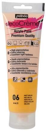 Акриловая краска Pebeo decoCreme кремовая матовая 089006 дыня 120 мл