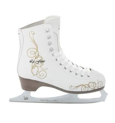 Коньки фигурные Спортивная Коллекция Le Fleur Fur белые, 42