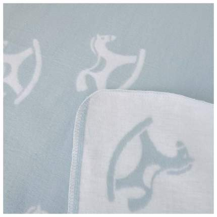 ЕРМОЛИНО Одеяло детское байковое х/б 140*100 ПРЕМИУМ NEW(льдистый лошадки)