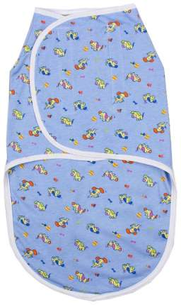 Пеленка-кокон Детская линия на липучках, голубая, 50-68 см