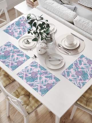 JoyArty Комплект салфеток для сервировки стола «Цветок Монстера» (32х46 см, 4 шт.)