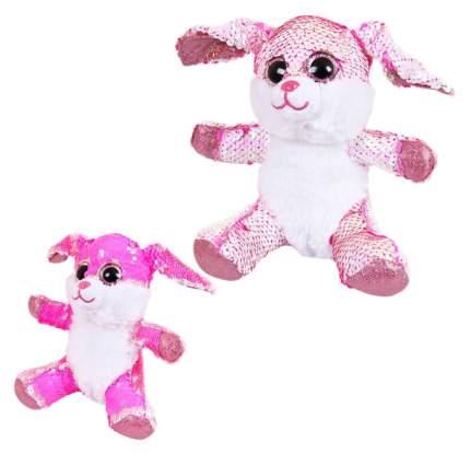 """Мягкая игрушка """"Кролик с пайетками"""", 15 см"""