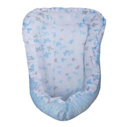 BAMBOLA Матрасик для новорожденных ГНЕЗДЫШКО Бабочки Голубой