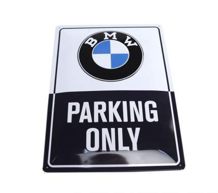 Металлическая табличка BMW Parking Only, Classic Metal Sign
