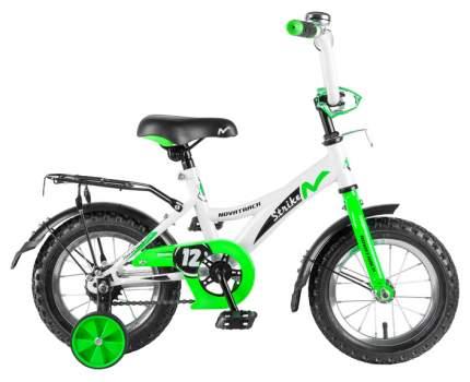 """Велосипед Novatrack """"Strike"""" (цвет: белый/зеленый, 12"""")"""