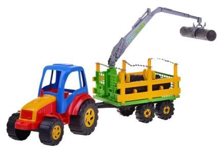 Трактор Rabbit Tytan с прицепом с бочками