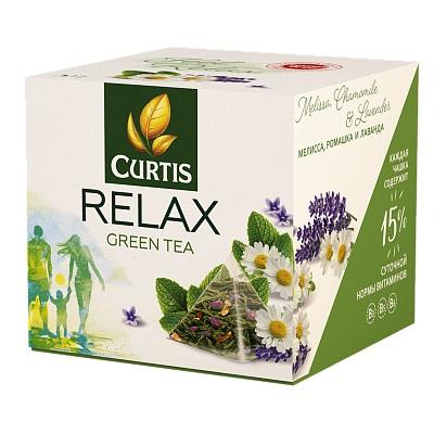 Чай Curtis Relax Green Tea зеленый с добавками 12 пирамидок
