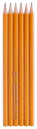 Набор чернографитных карандашей Koh-I-Noor различной твердости, 6 шт.