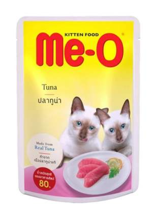 Влажный корм для котят Me-O Kitten, тунец в желе, 12шт по 80г