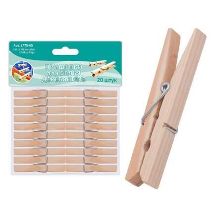 Прищепки для белья деревянные, 20 шт.