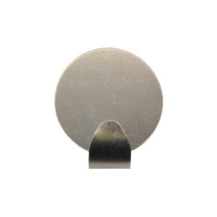 Крючок круглый нерж. самоклеящийся (2шт)