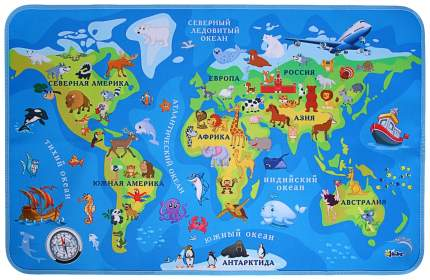 "Накладка на стол, текстиль, складная, 700 х 450 мм, ""Карта мира"" Оникс"